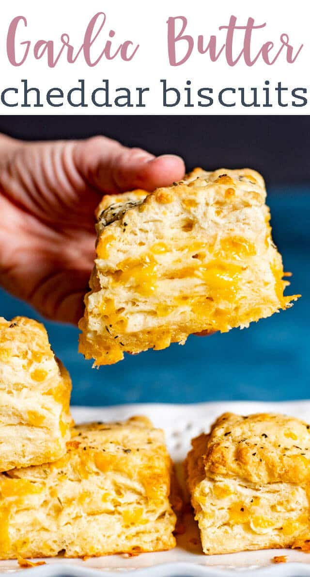 "Garlic lovers will love these cheesy Cheddar Bay Biscuits. Use our special ""folding"" technique to get fluffy layers in each biscuit. Better than Red Lobster Biscuits!"