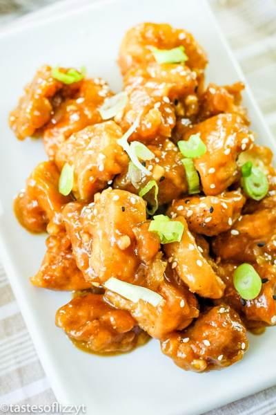 General Tso's Chicken Recipe on a plate