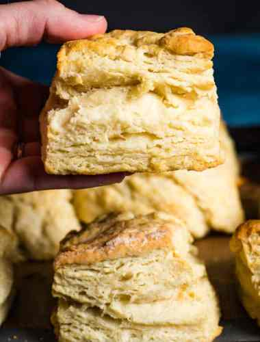 hand holding homemade biscuit