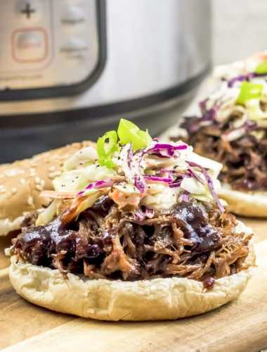 open face shredded pork sandwiches