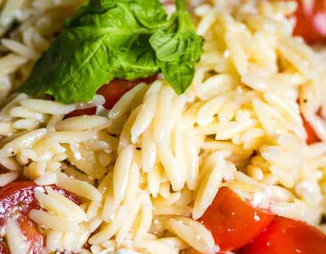 Tomato Orzo Pasta Salad