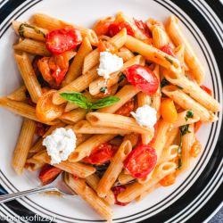Tomato Basil Pasta with ricotta