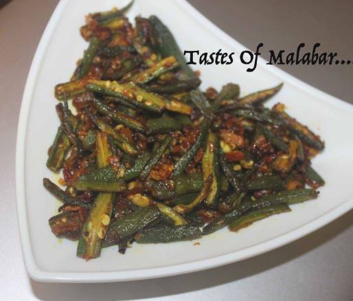 Vendakka Mezhukkupuratti/ Ladies Finger Stir Fry