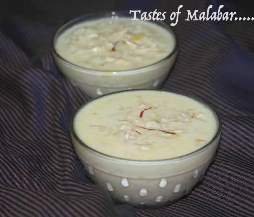 Rice kheer/ Pal payasam