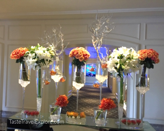 Ritz Carlton Entrance Flowers