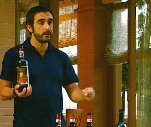 5 Myths about Wine Tours - Giovanni presenting about Italian wines