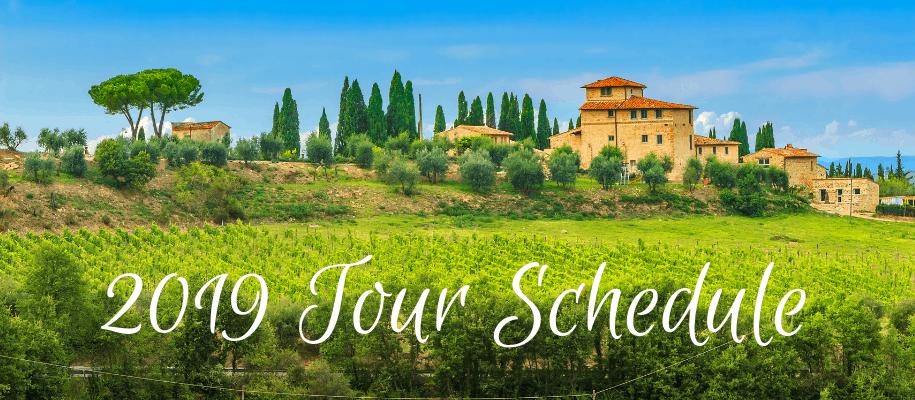 2019 Tour Schedule