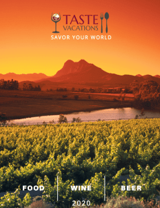 Taste Vacations 2020 Tour Catalog