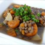 Tasting Good Naturally : Soupe lentilles végétalienne