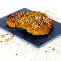 Burger aux pois chiches, sarrasin, carottes et épices Laksa (galettes) #vegan