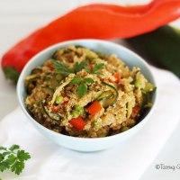 Quinoa aux légumes d'été Vegan