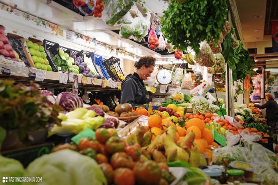 San Benedetto market exerience fresh fruits and vegetables