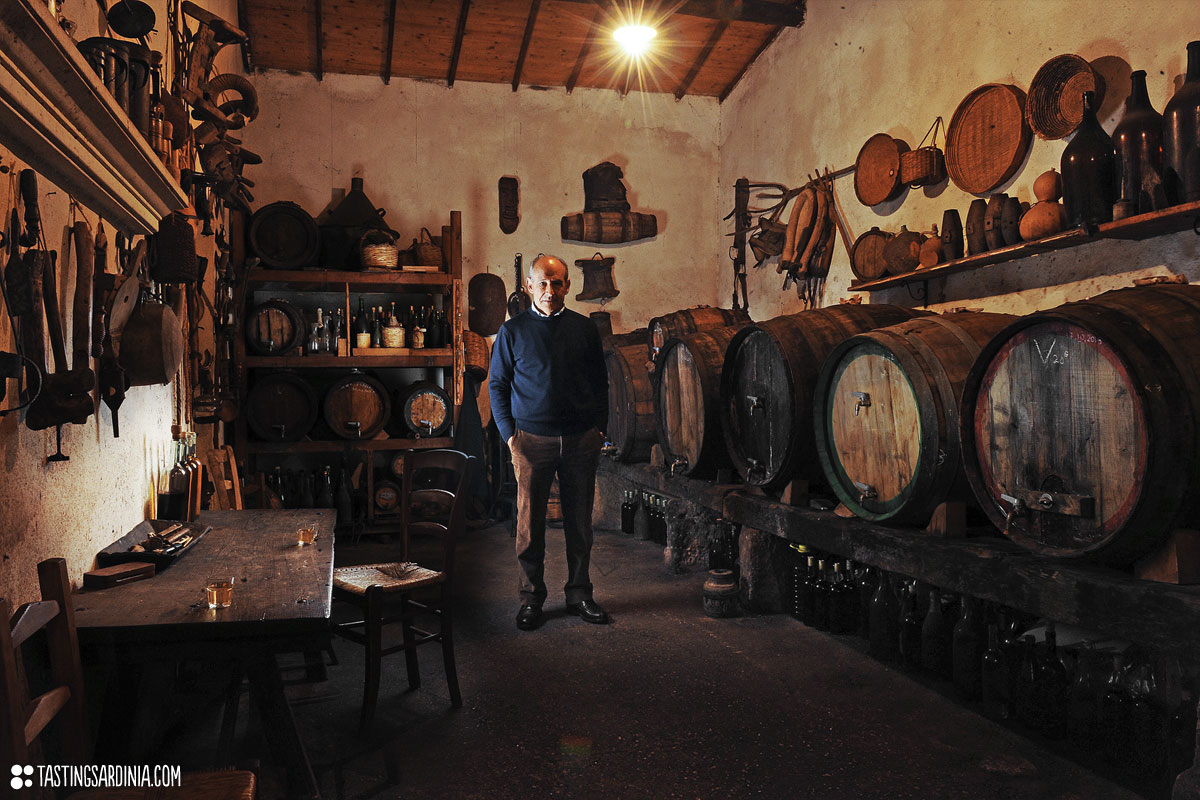 old traditional vernaccia wine cellar