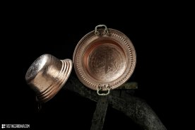 well decorated handicraft by Luigi Pitzalis coppersmith in his workshop