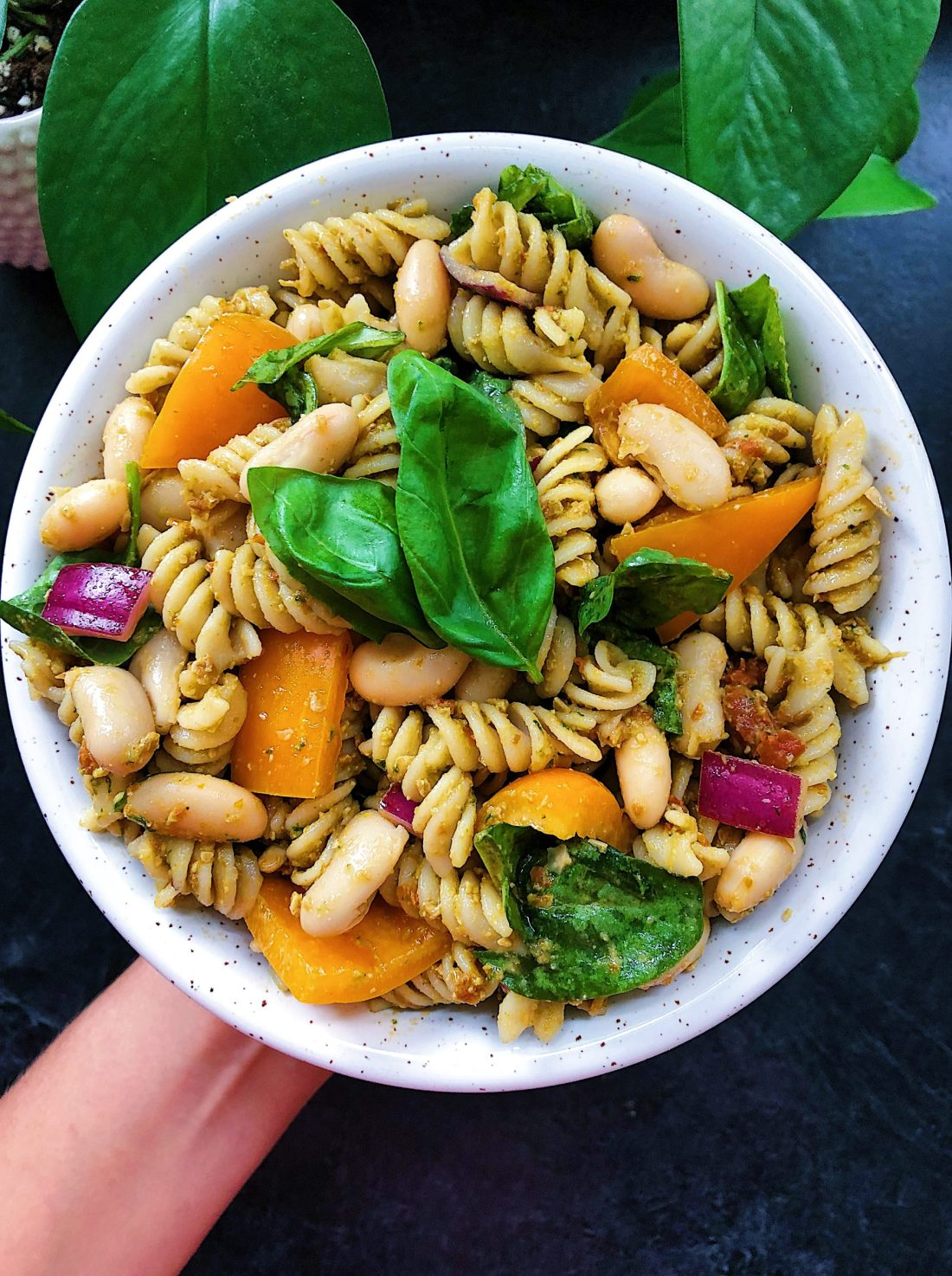 vegan sundried tomato pesto pasta salad recipe