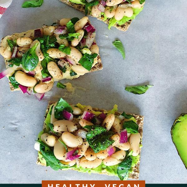 Healthy Vegan White Bean and Basil Salad