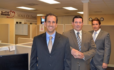 Nicholas Koutrakos, Joe Pores and Bryan Weinstein