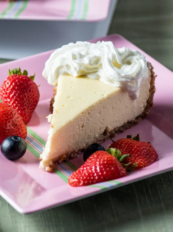 Individual Low Carb Cheesecake on plate