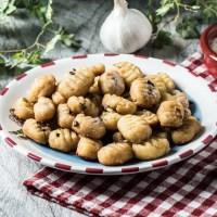 Keto Ricotta Garlic Gnocchi