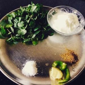 IMG_0755-300x300 Mint (Pudina) Chutney with Yogurt (Dahi)