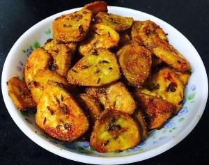 IMG_0983-300x237 Stir Fried Spicy Raw Banana