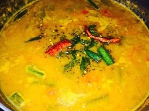 IMG_0813-300x225 Okra Lentil Soup/ Bhindi Sambar/Vendaikkai Sambar