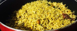 IMG_0991-300x123 Rice with Sorrel Leaves/Gongura Puliyodharai/Pullicha Keera