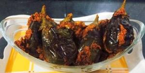 IMG_1737-300x152 Stuffed Dry Small Eggplant/Baingan Bharke/Ennai Kathirikai