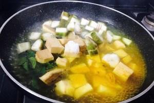IMG_2661-300x202 Yam and Raw Banana with Coconut and Spices/ Senai Vazhakkai Erissery