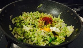 IMG_4531-300x174 Stir Fried Long Beans/Karamani Poriyal