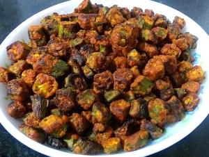 IMG_7637-300x226 Bhindi Fry / Stir Fried Crispy Okra