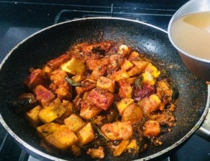 IMG_8035-300x230 Yam and Chick Pea Curry/Senai Kadalai Curry