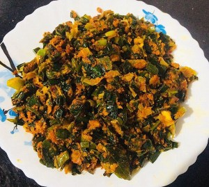 IMG_8161-300x269 Green Onion Curry/ Spring Onion Subzi
