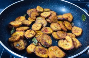 IMG_8348-300x195 Spicy Raw Banana Fry/Vazhakkai Varuval