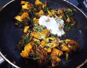 IMG_8452-300x236 Spinach and Cauliflower Curry / Aloo Gobi Curry