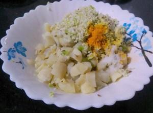 AABD3752-300x223 Stir Fried Chinese Potato/Siru Kizhangu Poriyal