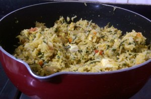 BRYX4806-300x197 Spinach Rice with Cottage Cheese/Palak Paneer Pulav