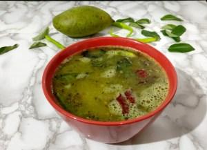 OURQ6472-300x217 Indian Raw Mango Soup/Mango Rasam