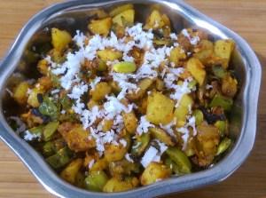 FBNM8368-300x223 Broad Beans Potato Curry/ Avarakkai Urulai Kizhangu Poriyal