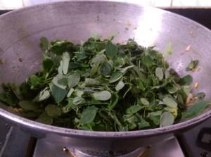 BWXQ3724-300x223 Moringa Leaves and Green Gram Lentil Stir Fry/ Murungai Keerai Paasi Paruppu Poriyal