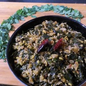 EIZN2497-300x300 Moringa Leaves and Green Gram Lentil Stir Fry/ Murungai Keerai Paasi Paruppu Poriyal