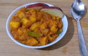 IWUK4974-300x193 Apple Curry in Tomato gravy