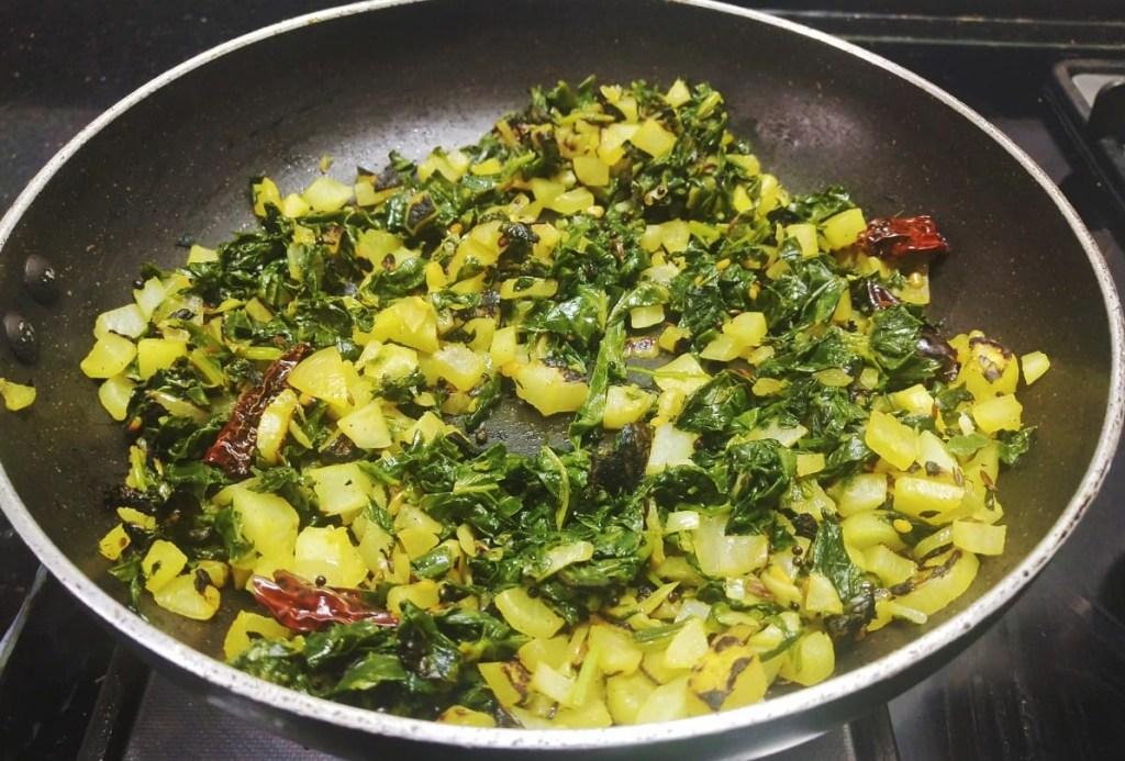 KKTJ5292-1024x693 Easy Radish Stir fry with Radish Green/ Dry Mooli Ki Subzi/ Mullangi Keerai Pasi Paruppu Poriyal