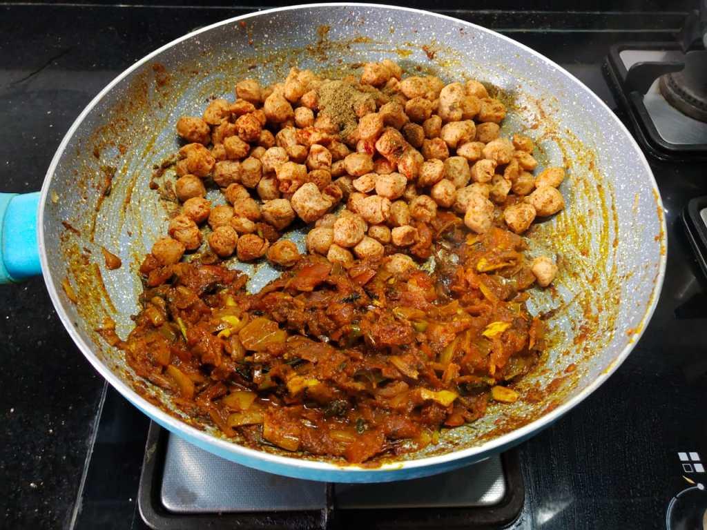 KUNV0053-1024x768 Soya Chunks Dry Masala/ Meal Maker Dry Masala