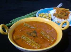 MEVH7255-300x223 Drum Stick in Tomato Gravy/ Moringa in Tomato Gravy/ Thakkali Murungaikai Kuzhambu