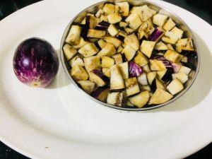 PCJI8176-300x225 Eggplant Stir fry/Kathirikai Poriyal