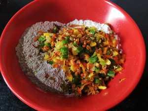 QDEJ8538-300x225 Instant Ragi Vegetable Kuzhi Paniyaram/ Finger Millet (Nachani) Vegetable Appams