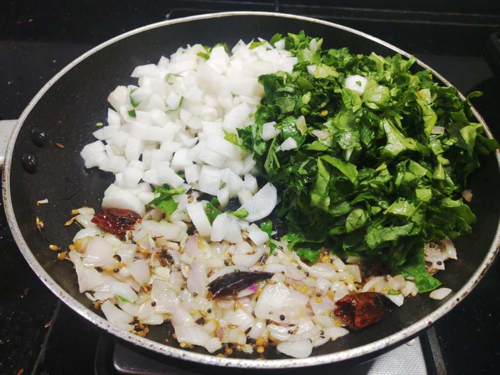 ROBS5040-1024x768 Easy Radish Stir fry with Radish Green/ Dry Mooli Ki Subzi/ Mullangi Keerai Pasi Paruppu Poriyal