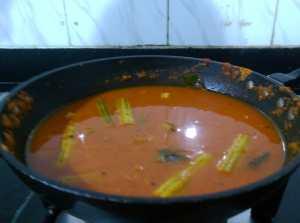 SUUM1694-300x223 Drum Stick in Tomato Gravy/ Moringa in Tomato Gravy/ Thakkali Murungaikai Kuzhambu