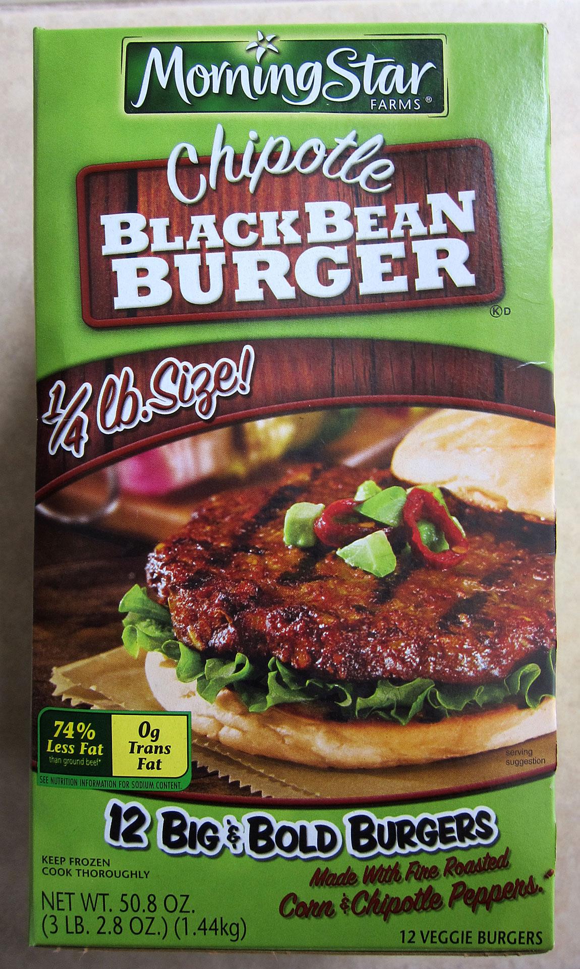 Costco Eats Morningstar Farms Chipotle Black Bean Veggie Burger Tasty Island